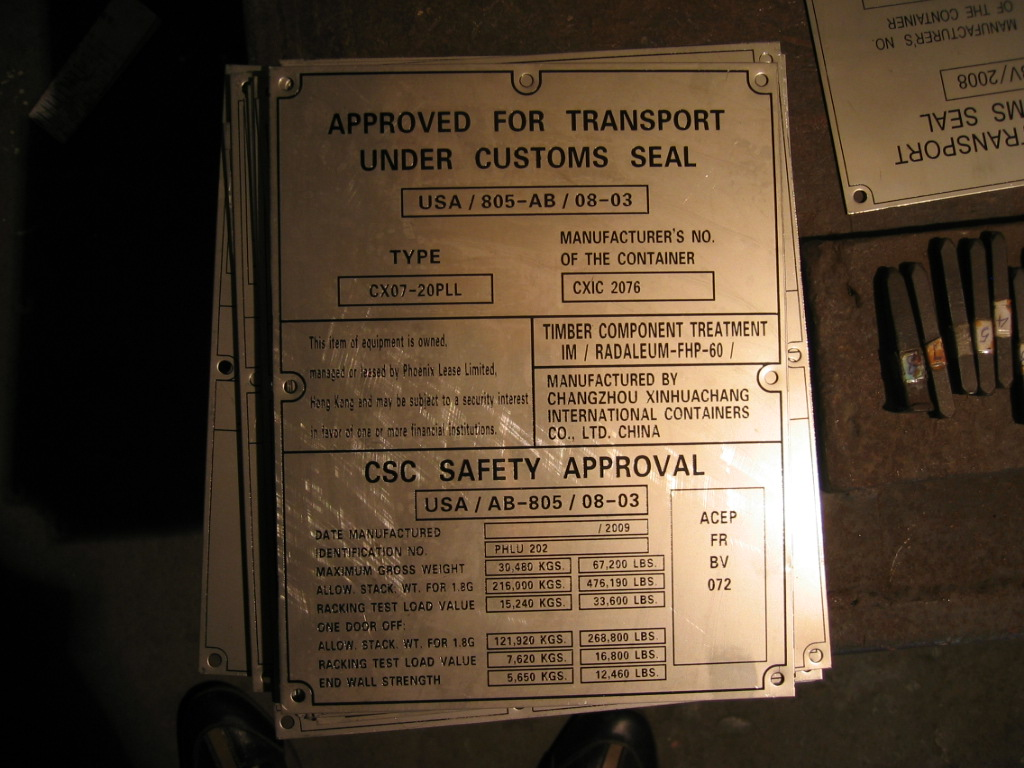 Consolidated Data Plate
